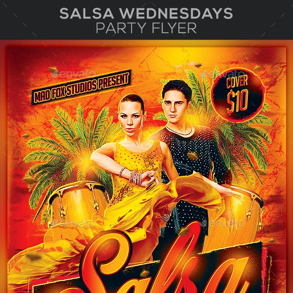 Salsa Wednesdays Party Flyer