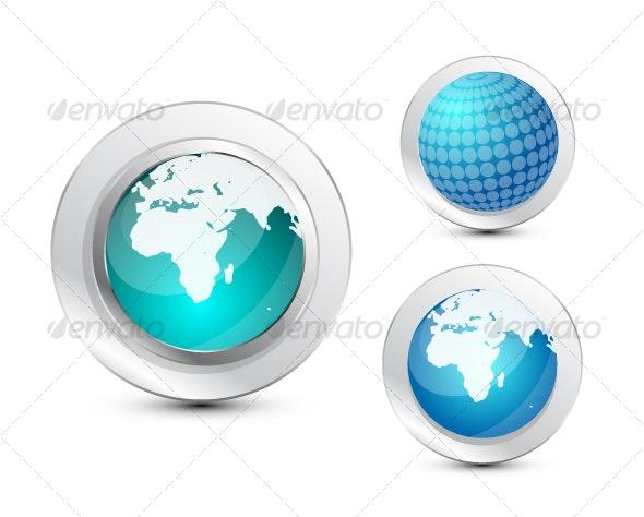 Globes Icon set - Technology Conceptual