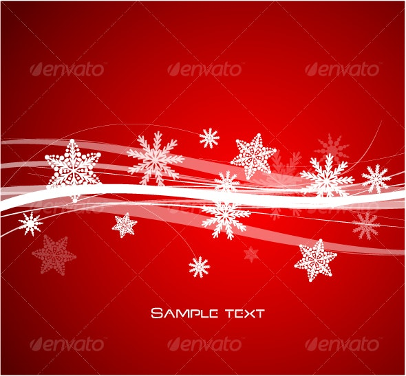 Snowflakes design - New Year Seasons/Holidays
