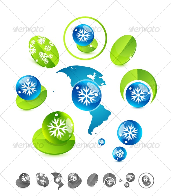 "Winter ""Green"" vector design elements - Nature Conceptual"