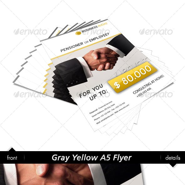 Gray Yellow A6 Flyer
