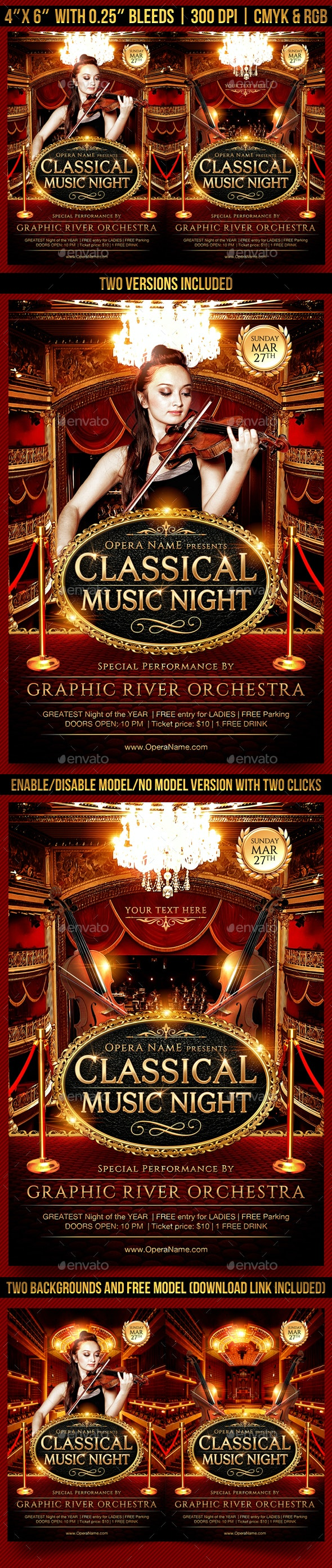 Classical Music Night Flyer Template - Events Flyers