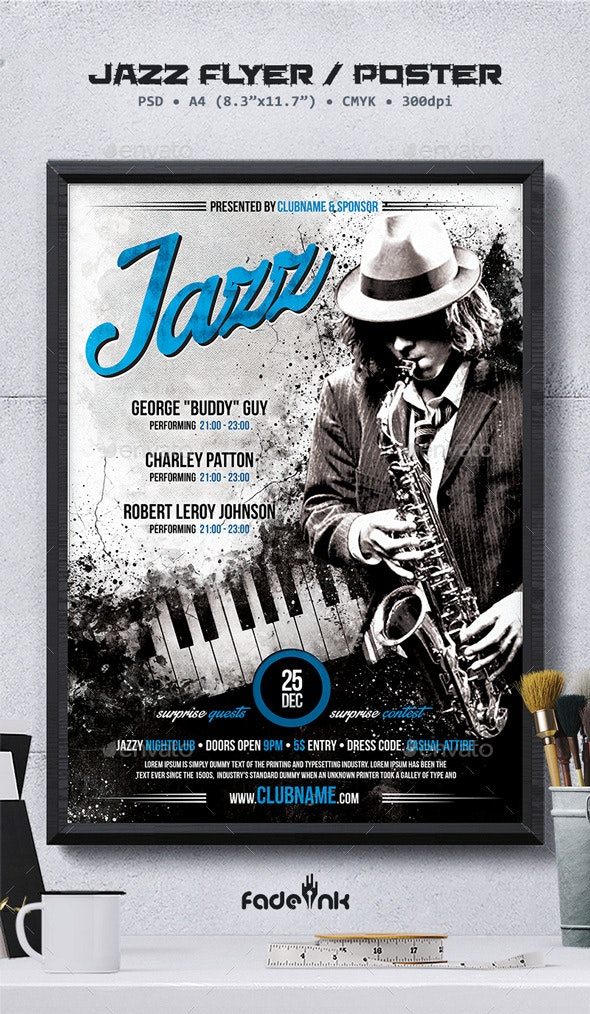 Jazz Flyer / Poster Template - Concerts Events