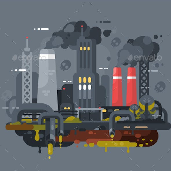 Mills And Factories Polluting Environment