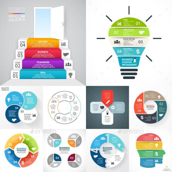 4 Steps Infographics. PSD, EPS, AI.