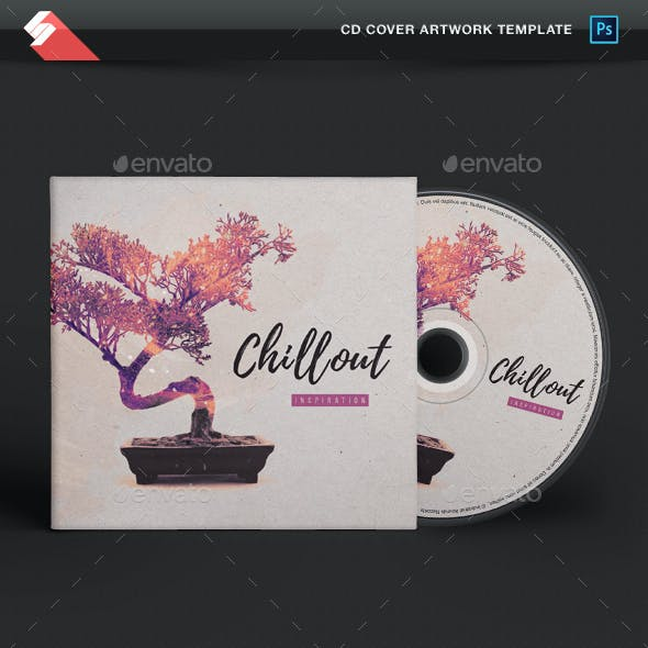 Chill Out Inspiration - Minimal CD Cover Artwork Template