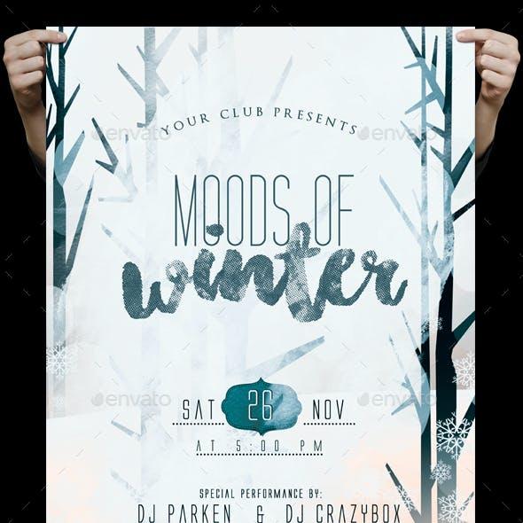 Moods Of Winter Flyer