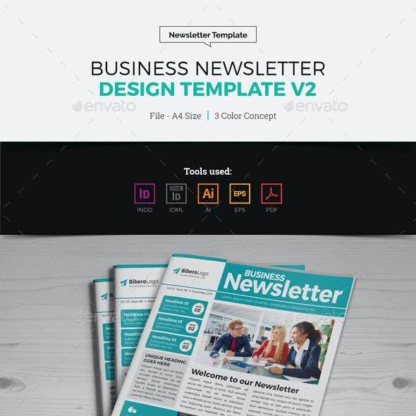 Newsletter Design Template v2
