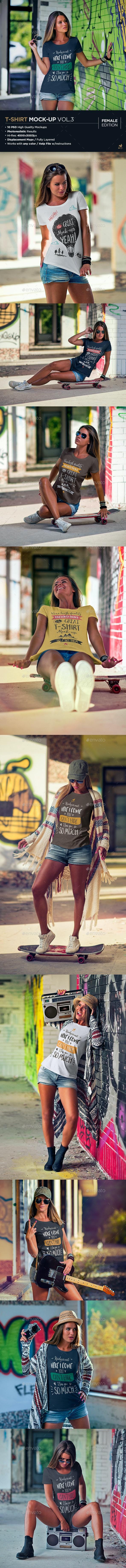 T-Shirt Mock-Up Vol.3 - T-shirts Apparel