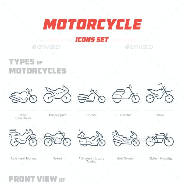 Motorcycle Icon Set