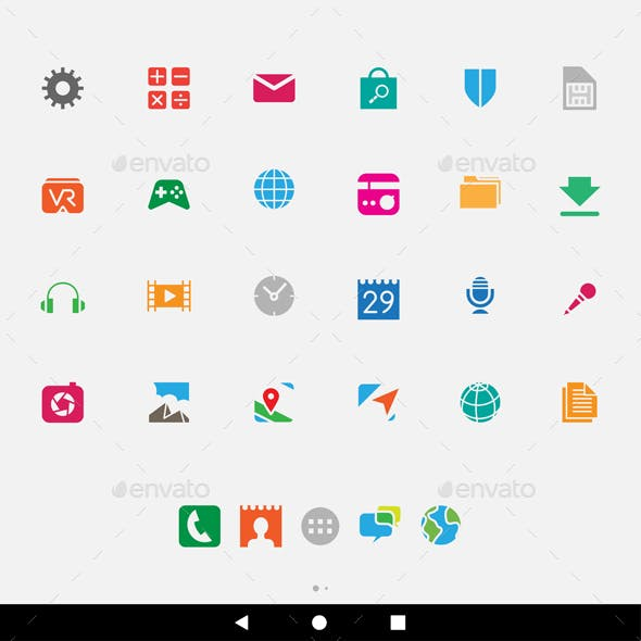 Colorful Smartphone Apps and Icons