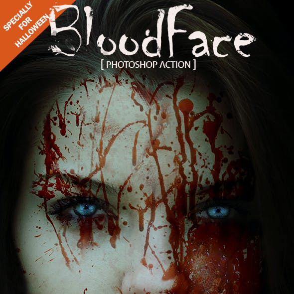 Blood Face Photoshop Action