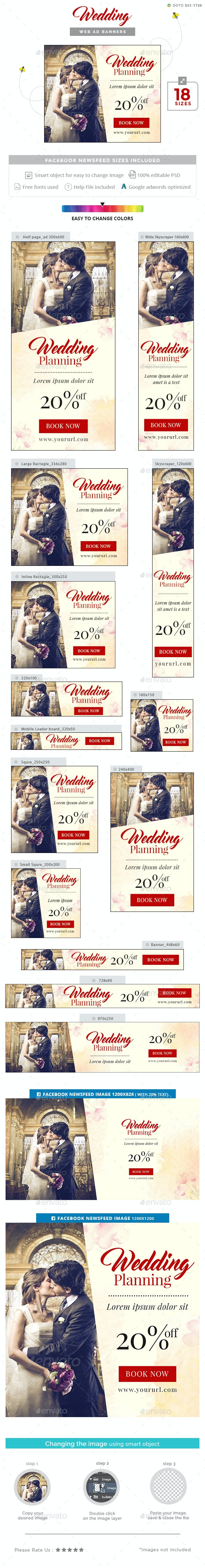 Wedding Banners - Banners & Ads Web Elements