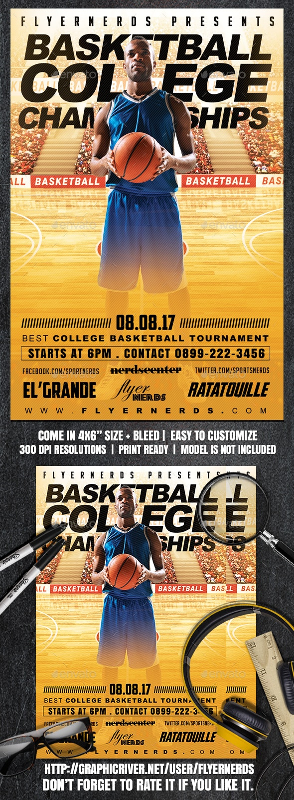 College Basketball Championships Sports Flyer - Sports Events