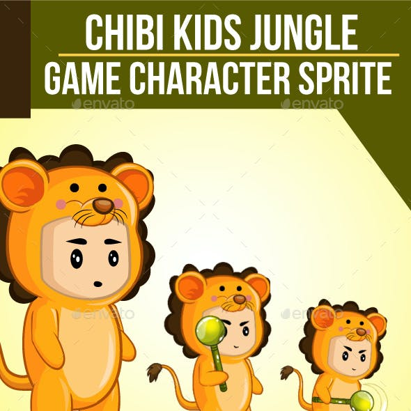 Chibi Kids Jungle Sprite Character