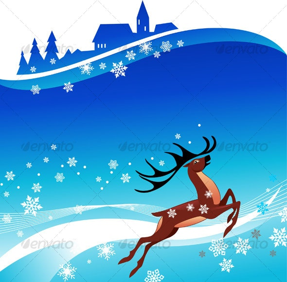 Deer rushing - Backgrounds Decorative