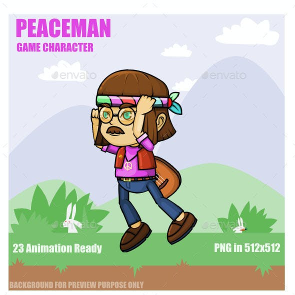 Peace Man Sprite Character