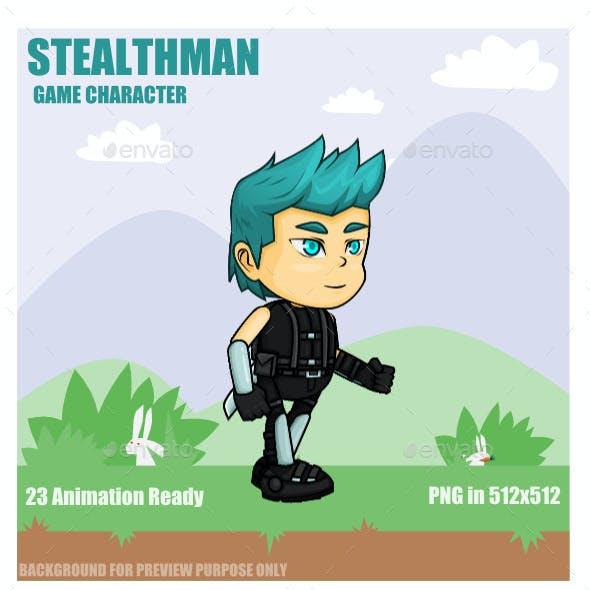 Stealth Man Sprite Character