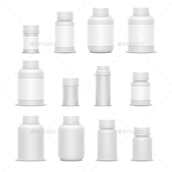 Realistic Vector Plastic Packaging Medicine
