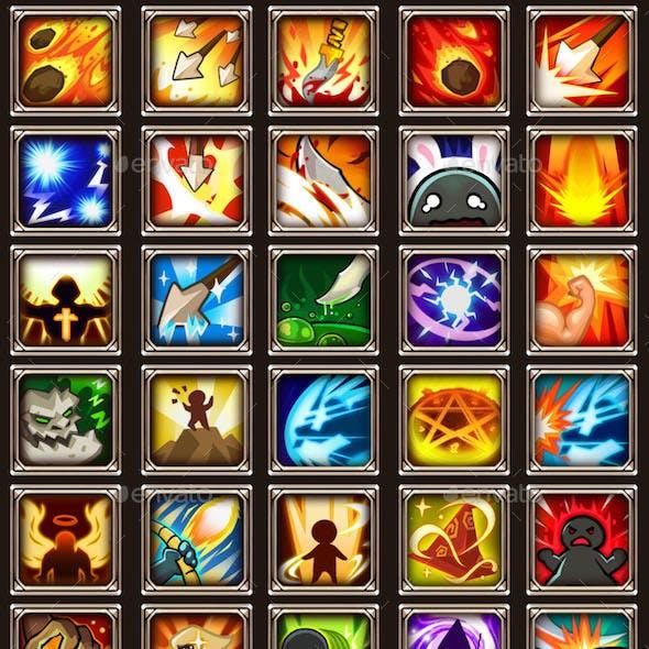 45 RPG Game Skill Icons