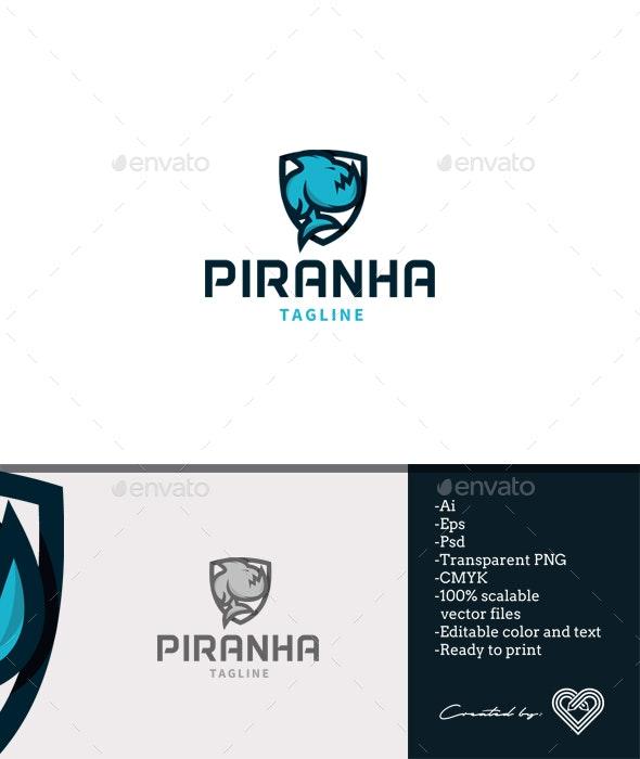 Piranha Logo Template - Animals Logo Templates