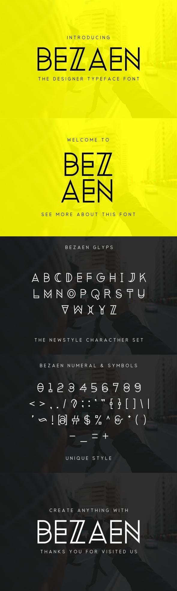 Bezaen Typeface - Sans-Serif Fonts