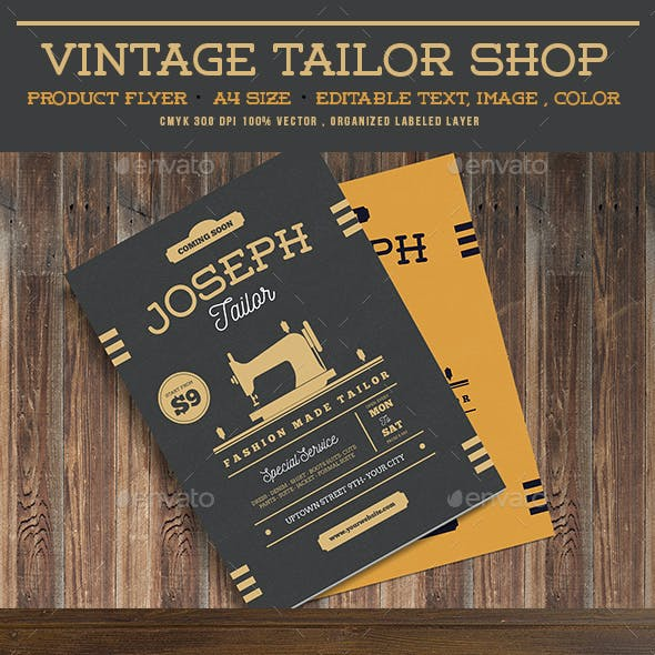 Vintage Tailor Shop Flyer
