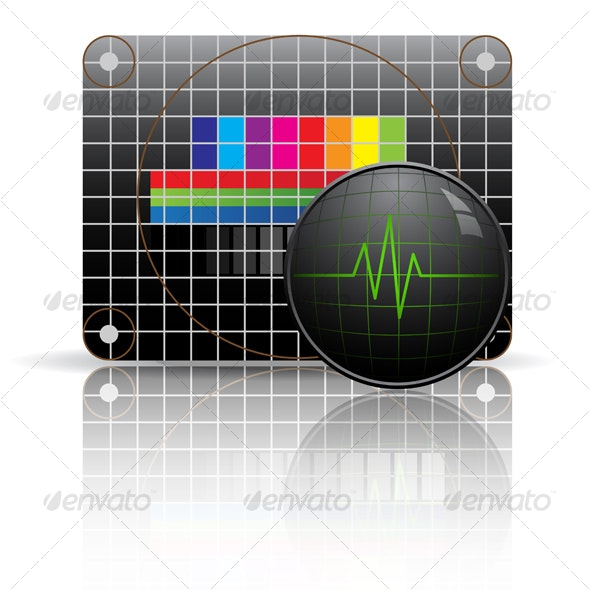 Television test chart with oscillograph - Technology Conceptual