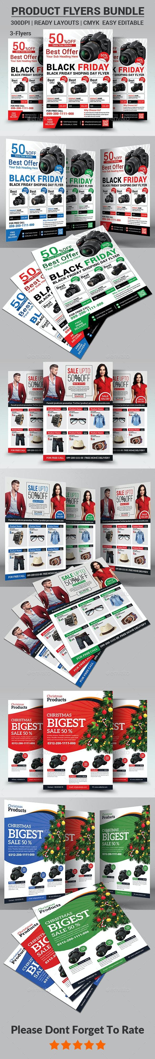 Product Promotion Flyers Bundle - Corporate Flyers