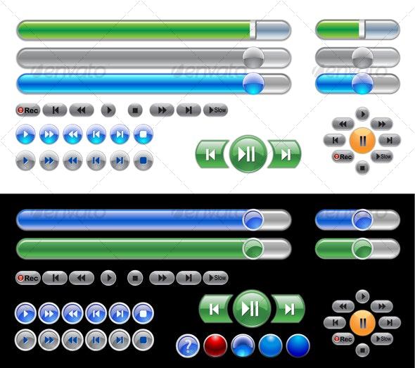widget set - Decorative Vectors