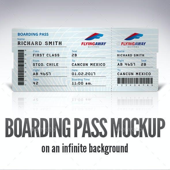 Boarding Pass Mockup