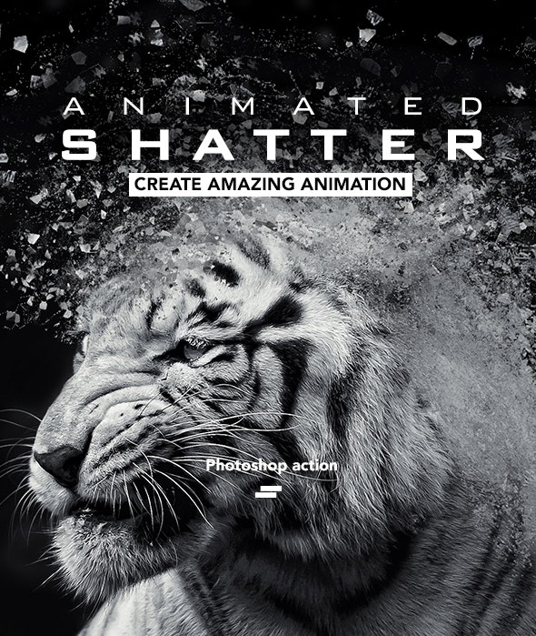 Gif Animated Shatter Photoshop Action - Photo Effects Actions