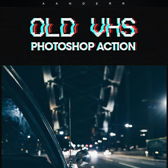 Old VHS Photoshop Action