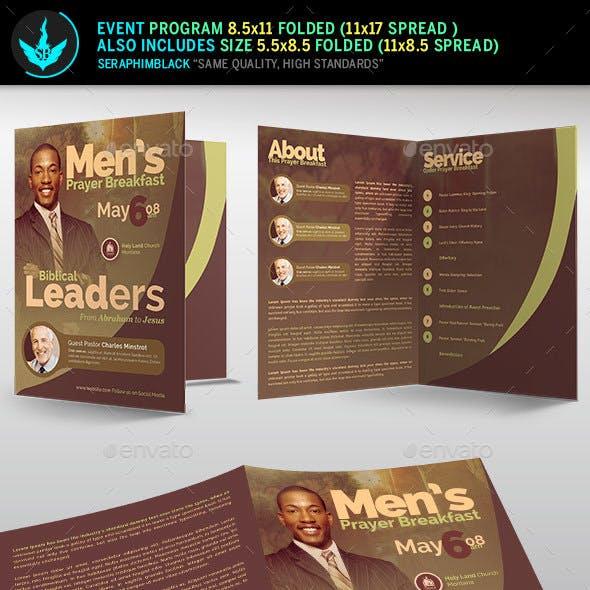 Men's Prayer Breakfast  Program Template