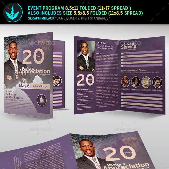 Modern Pastors Appreciation Program Template 2