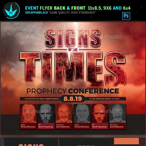 Signs of the Times Prophecy Conference Flyer Template