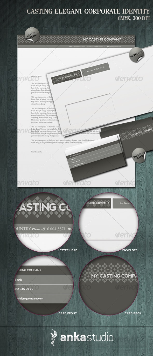 My Casting - Stationery Print Templates