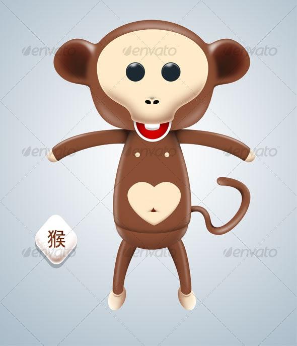 Cute Monkey - Animals Illustrations