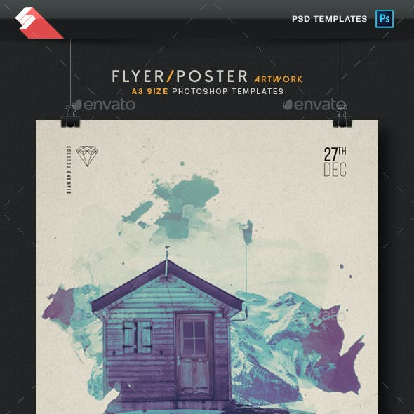 Chillout Winter Session - Flyer / Poster Artwork Template A3