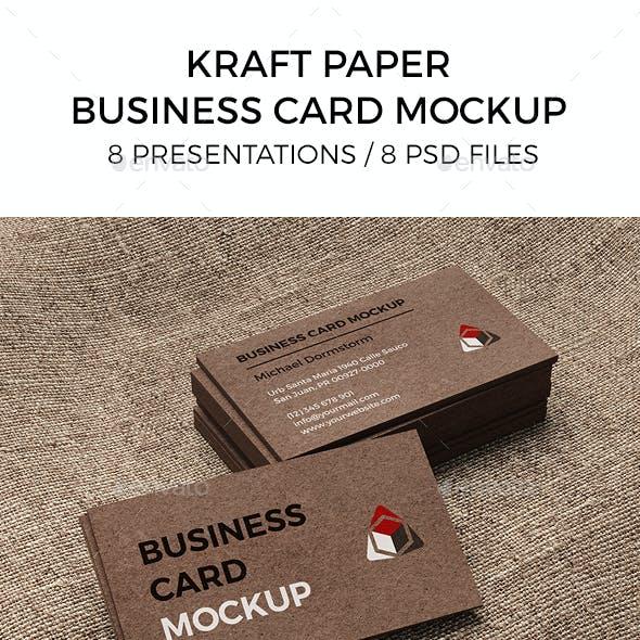 Kraft Paper Business Card Mockup