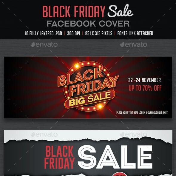 Black Friday Facebook Cover