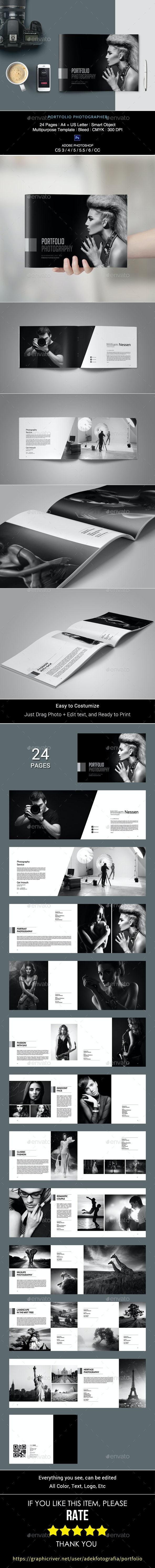 Portfolio Photographer - Photo Albums Print Templates