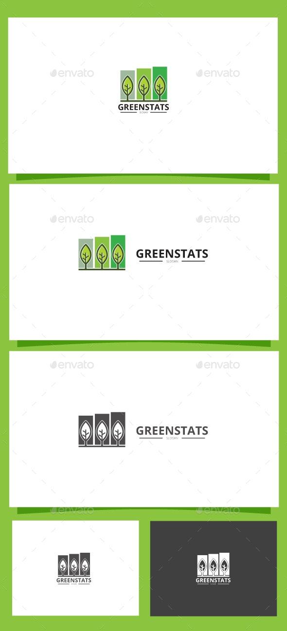 Green stats - Nature Logo Templates