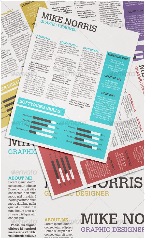 Newspaper CV - Miscellaneous Print Templates