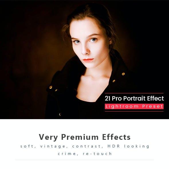 21 Pro Portrait Effect Presets