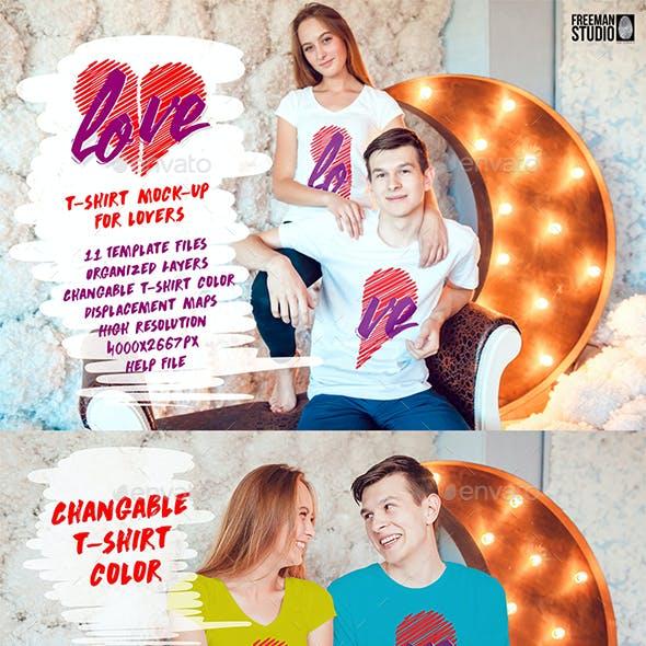 Lovestory T-Shirt Mock-Up