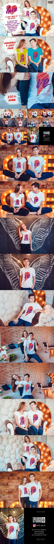 Lovestory T-Shirt Mock-Up - Product Mock-Ups Graphics