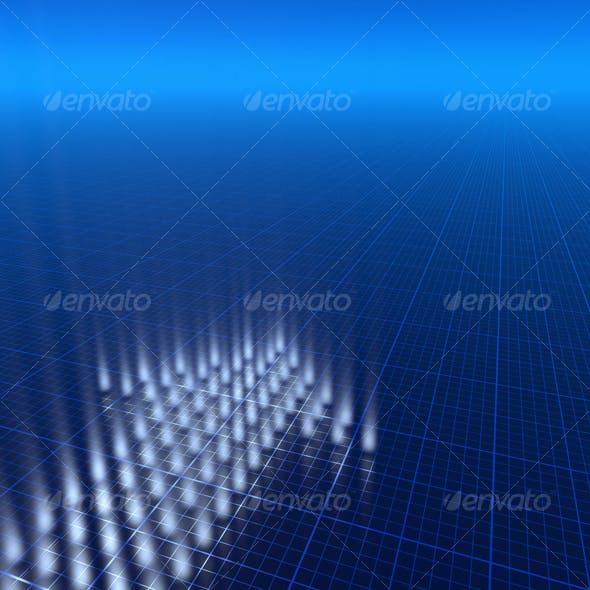 3D blue background