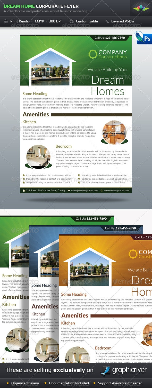 Dream Home Real Estate Corporate Flyer - Corporate Flyers