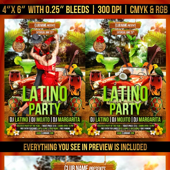 Latino Party Flyer Template